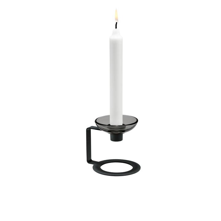 Lumi Kerzenständer einarmig 9 cm von Holmegaard in Schwarz