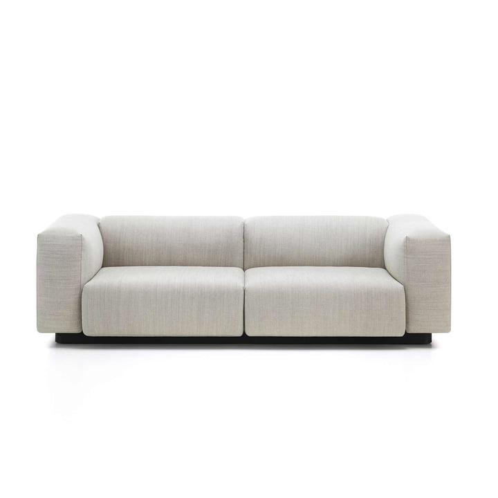 Vitra - Soft Modular Sofa, 2-Sitzer, crème / stahlgrau (Maize 03)