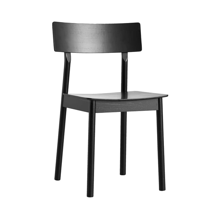 Pause Dining Chair von Woud in schwarz