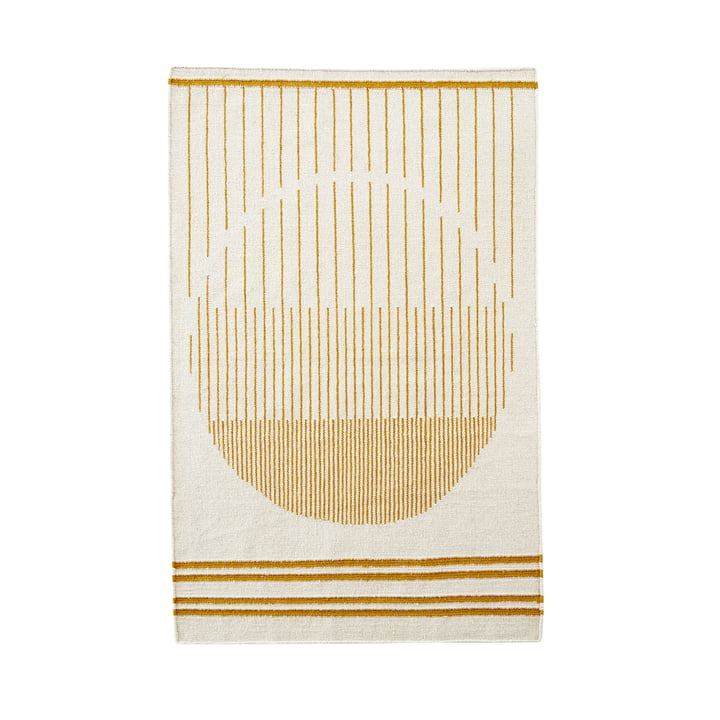 Raining Circle Rug 170 x 240 cm von Woud in gelb