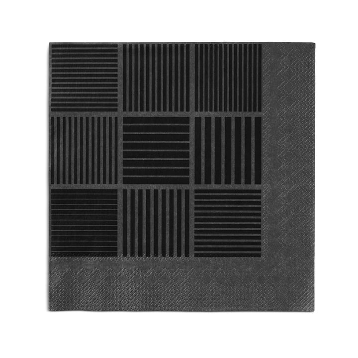 Nanna Ditzel Papierservietten 20 Stck. 40x40 cm von Rosendahl in Schwarz / Grau