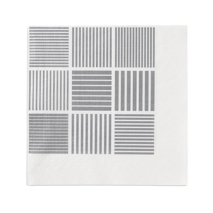 Nanna Ditzel Papierservietten 20 Stck. 40x40 cm von Rosendahl in Weiß / Grau