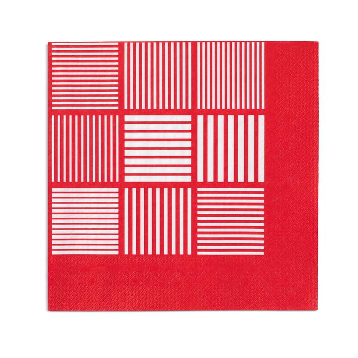 Nanna Ditzel Papierservietten 20 Stck. 40x40 cm von Rosendahl in Rot / Weiß