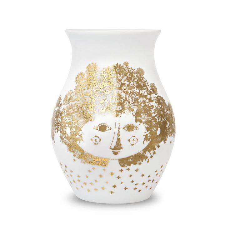 Vase Felicia von Bjørn Wiinblad in Goldfarben