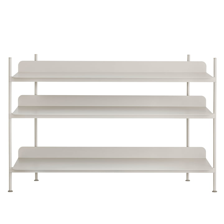 Compile Shelving System (Config. 2) von Muuto in Grau