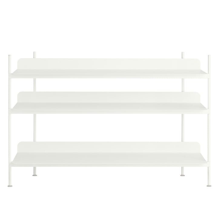 Compile Shelving System (Config. 2) von Muuto in Weiß