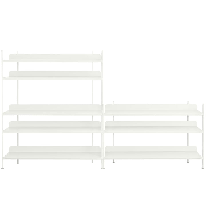 Compile Shelving System (Config. 7) von Muuto in Weiß