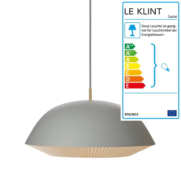 Caché Pendelleuchte XL von Le Klint in Grau