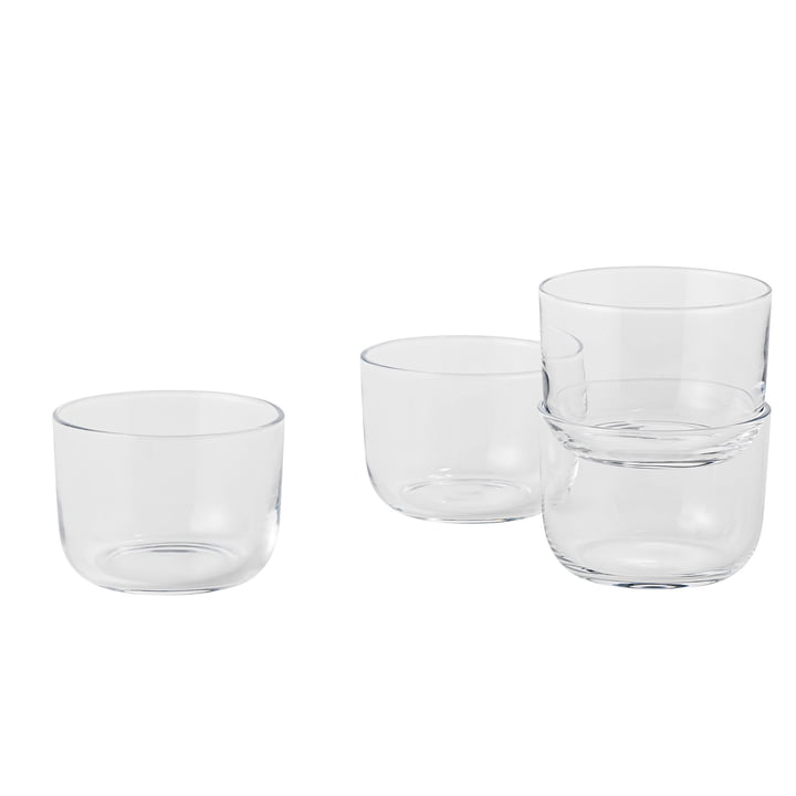 Corky Trinkglas (4er-Set) Low von Muuto in Clear