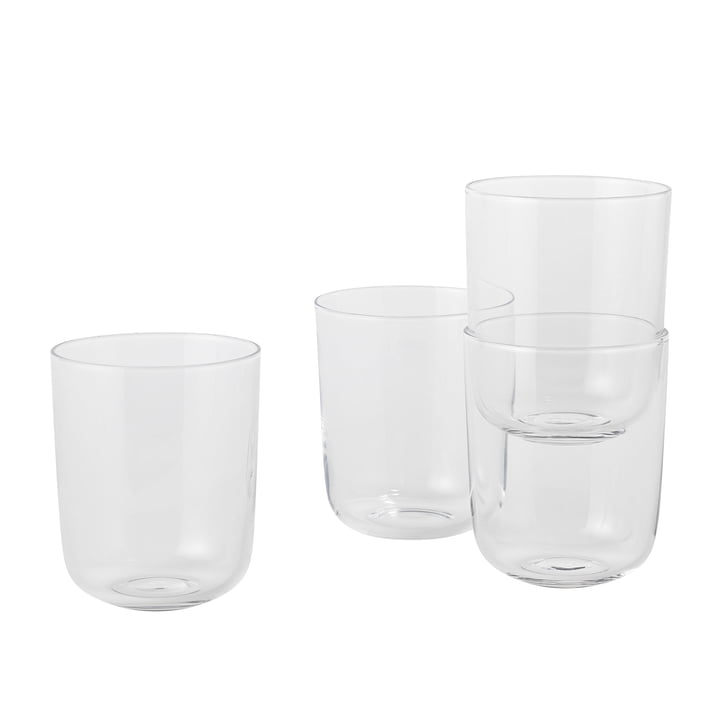 Corky Trinkglas (4er-Set) Tall von Muuto in Clear