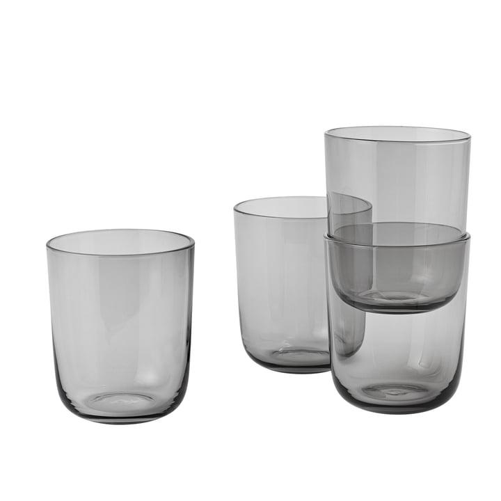 Corky Trinkglas (4er-Set) Tall von Muuto in Grau