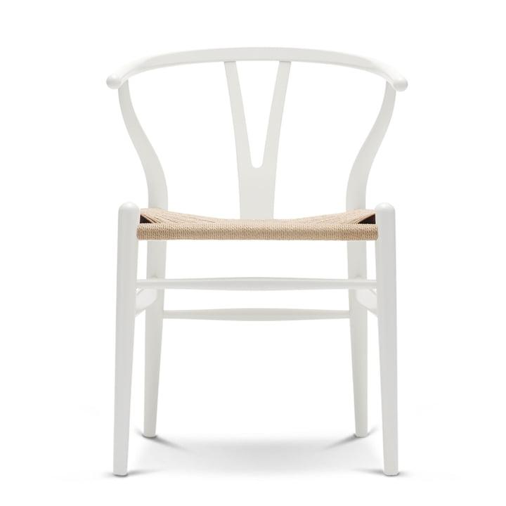 CH24 Wishbone Chair von Carl Hansen in Buche weiß / Naturgeflecht