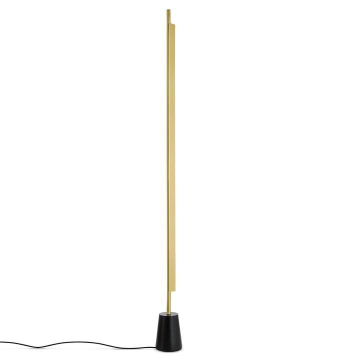 D81 Compendium LED Stehleuchte von Luceplan in Messing / Schwarz