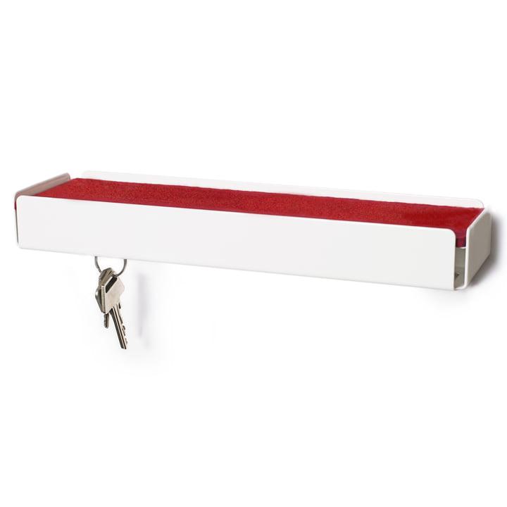 SL35 Key-Box Schlüsselbox von Konstantin Slawinski in weiß / Filz rot