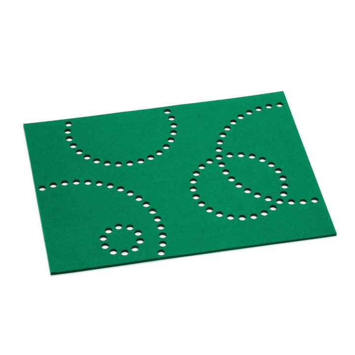 Das Hey Sign - Tischset Stamp, rechteckig, 5 mm in kleegrün