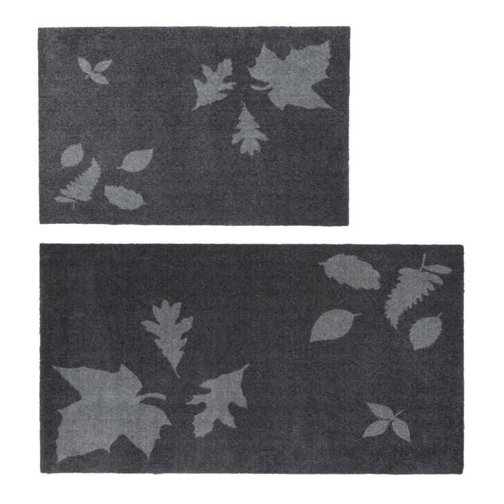 Die tica copenhagen - Leaf Mega Fußmatte in 67 x 120 cm, grau und 60 x 90 cm, grau