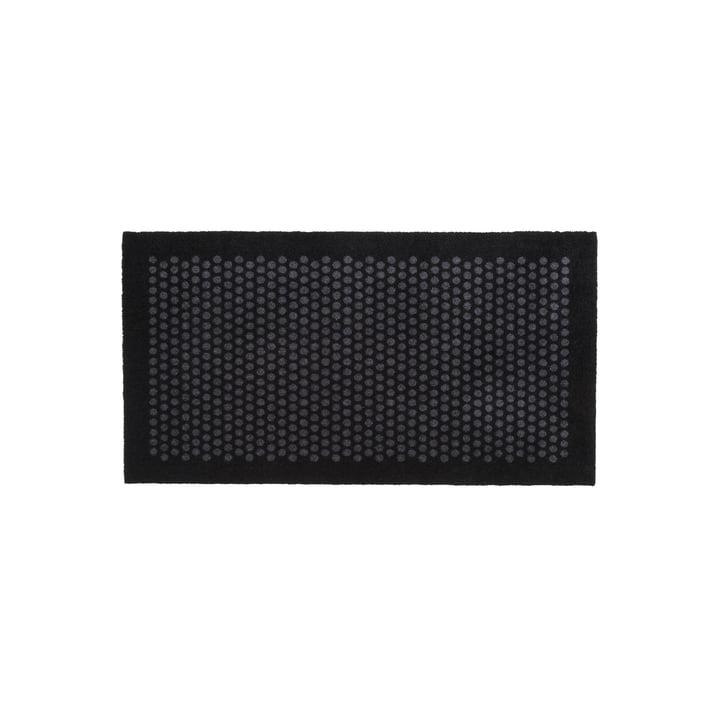 Dot Fußmatte 67 x 120 cm von tica copenhagen in schwarz / grau