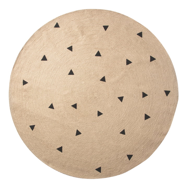 Triangle Jute Carpet Ø 130 cm von ferm Living