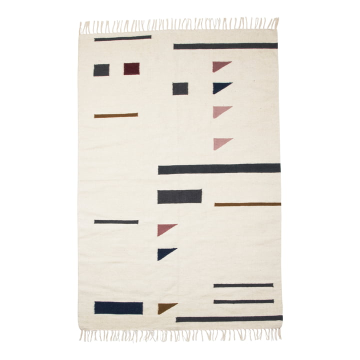 Kelim Rug Colour Triangles groß von ferm Living