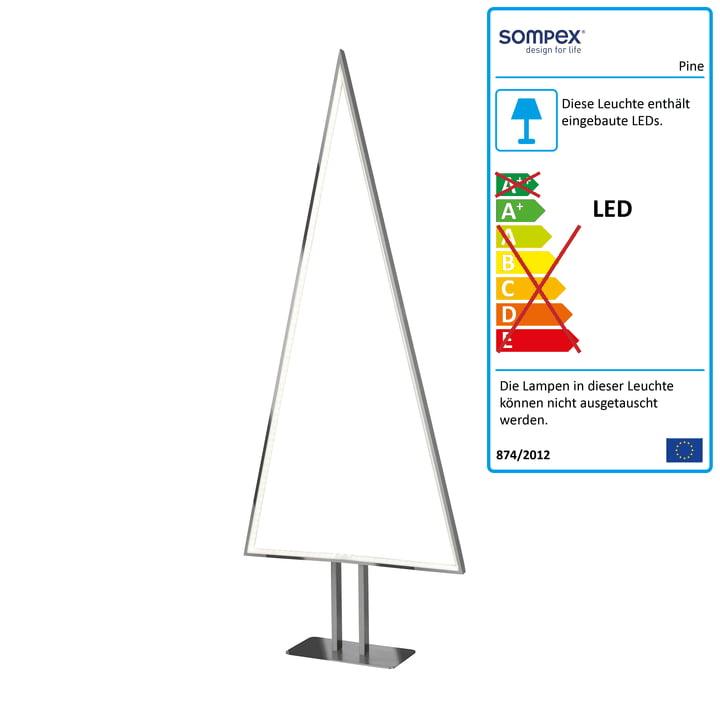 Pine LED Tischleuchte 100 x 40 cm von Sompex aus Aluminium