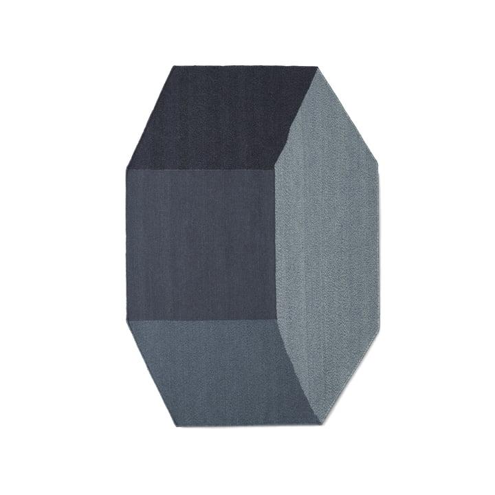 Willenz Volume Teppich klein von Menu in blau