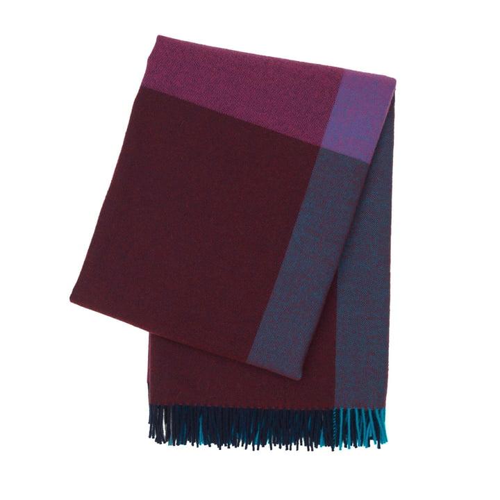 Colour Block Decke von Vitra in Bordeaux und Blau