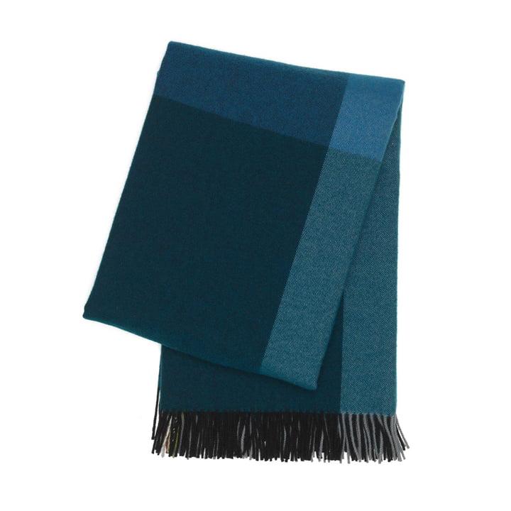 Colour Block Decke von Vitra in Schwarz und Blau