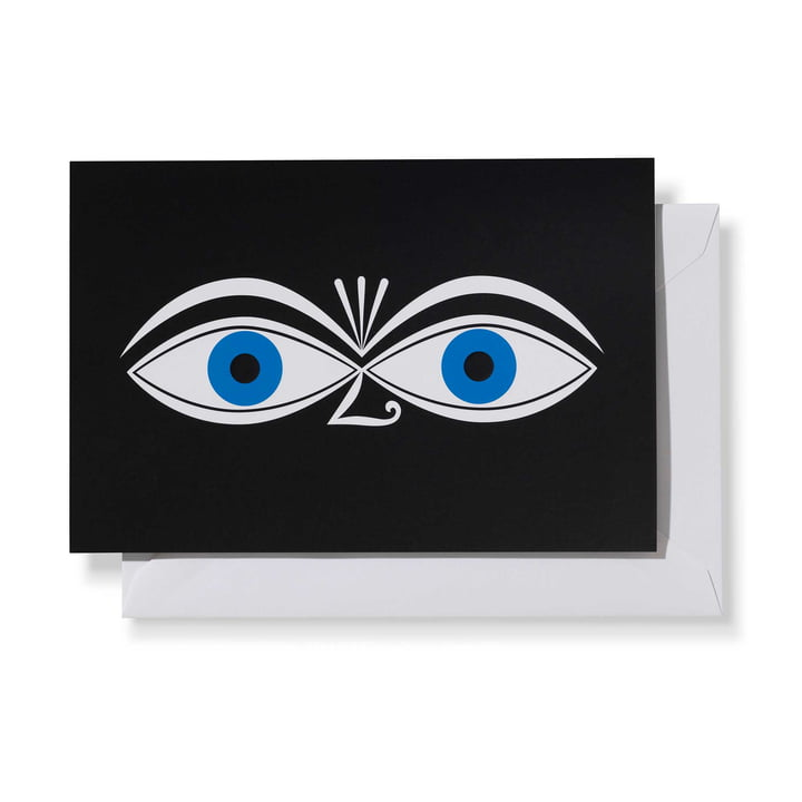 Greeting Card Eyes Blue von Vitra