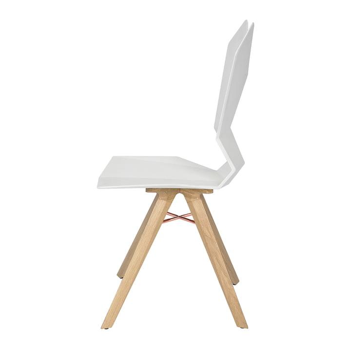 Der Tom Dixon - Y Chair in weiß / Eiche natur