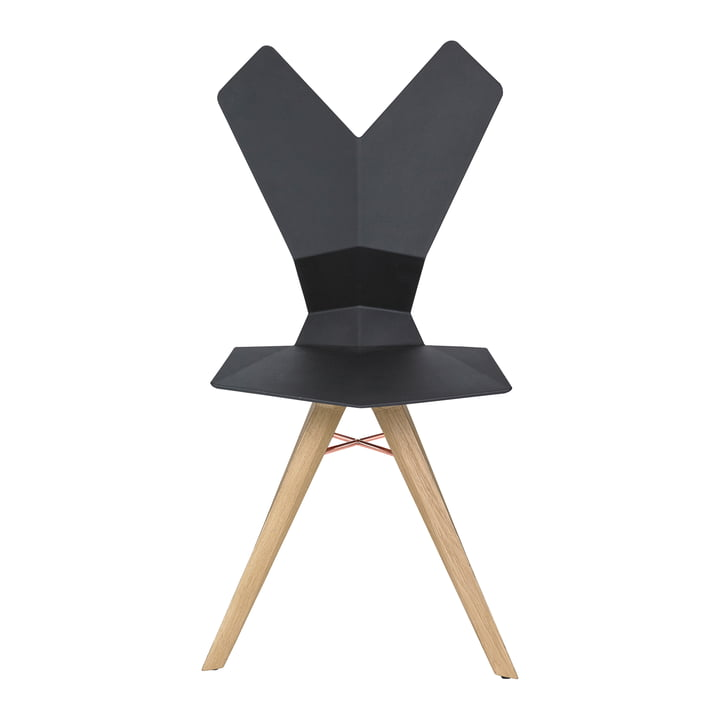 Der Tom Dixon - Y Chair in schwarz / Eiche natur