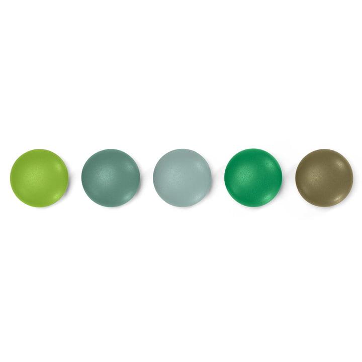 5er-Set Magnetpunkte von Vitra in Grün