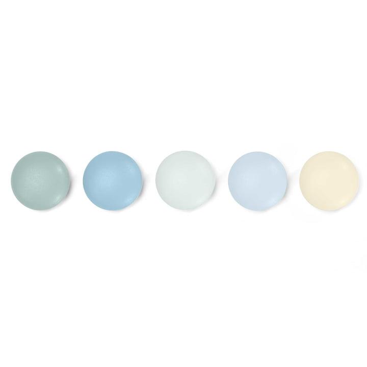 5er-Set Magnetpunkte von Vitra in Pastell