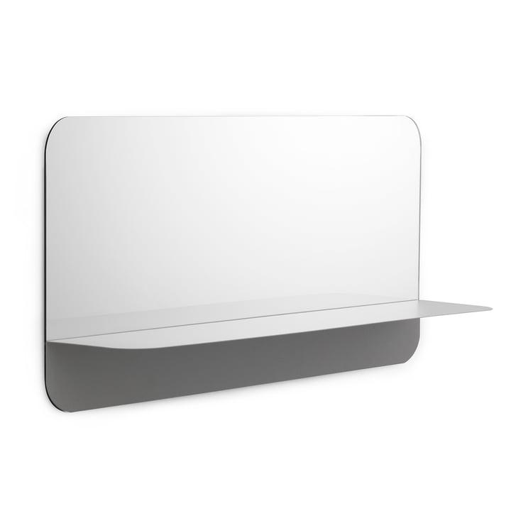 Horizon Spiegel horizontal von Normann Copenhagen in Grau