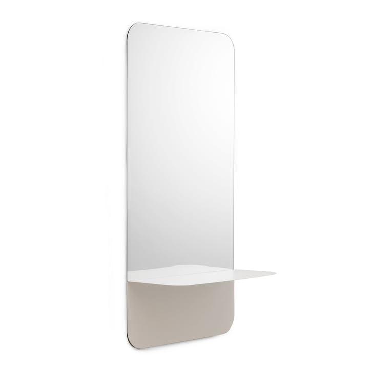 Horizon Spiegel vertikal von Normann Copenhagen in Weiß