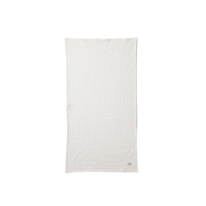 Organic Handtuch 100 x 50 cm in Weiß von ferm Living