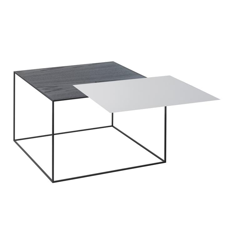 Twin 49 Beistelltisch, schwarzer Rahmen von by Lassen in Esche schwarz gebeizt / cool grey
