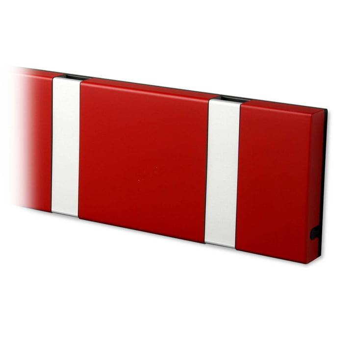 Knax Garderobenleiste von LoCa in imperial rot / grau