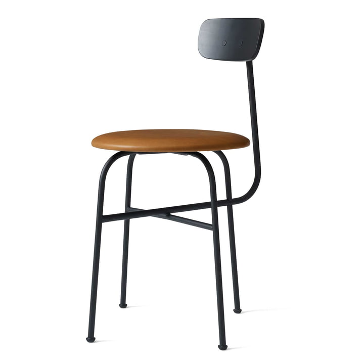 Afteroom Dining Chair 4 von Menu in schwarz / Leder Cognac