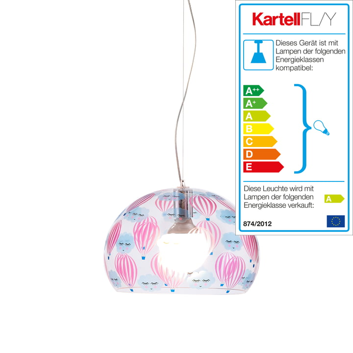 FL/Y Kinderzimmerleuchte Small von Kartell in Transparent / Ballon