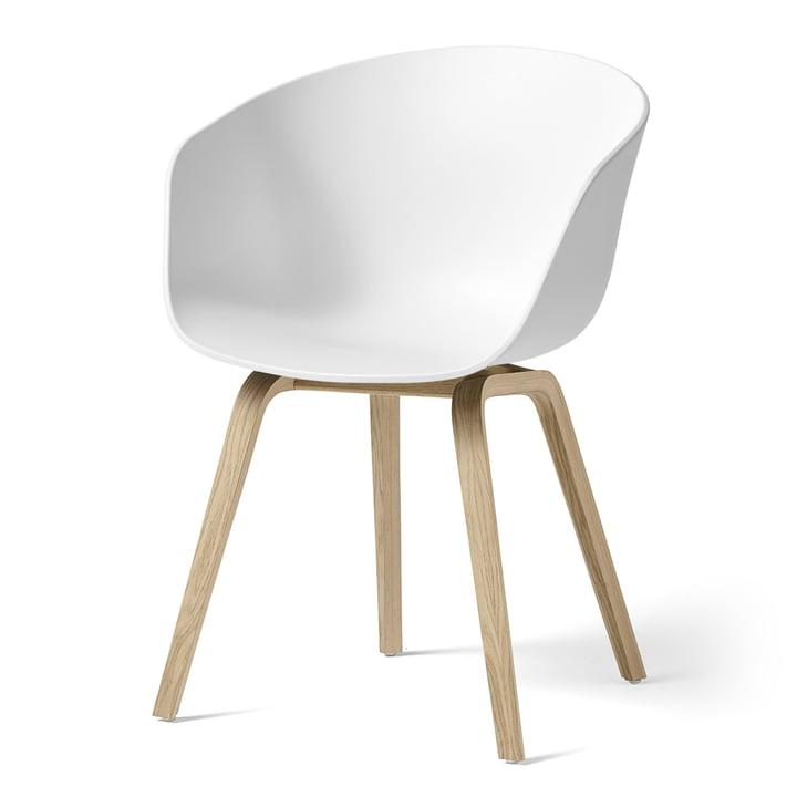 About A Chair AAC 22 von Hay in Eiche matt lackiert / weiß