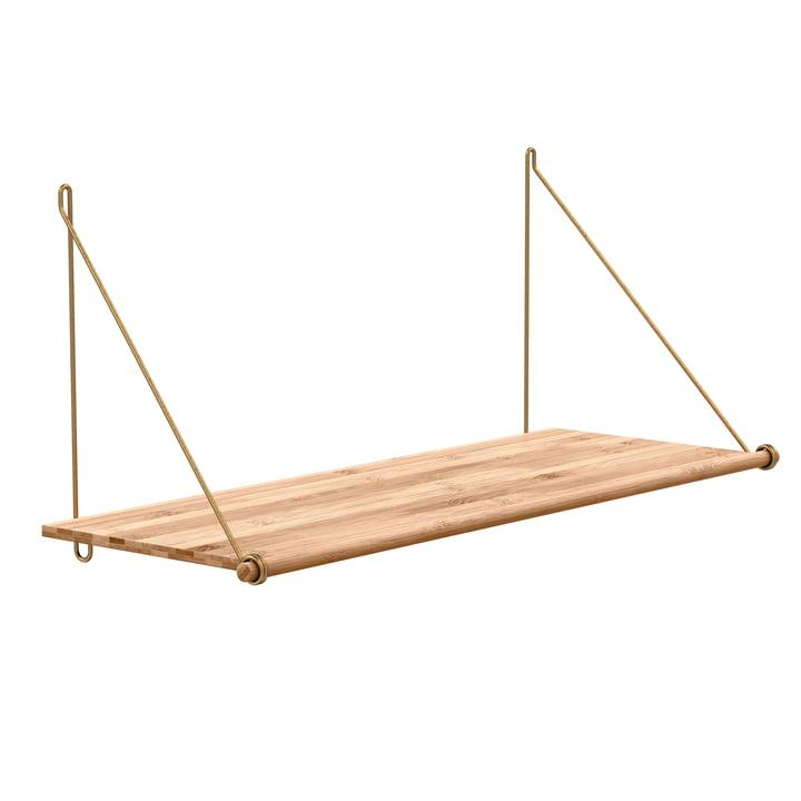 Loop Shelf von We Do Wood aus Bambus und Messing