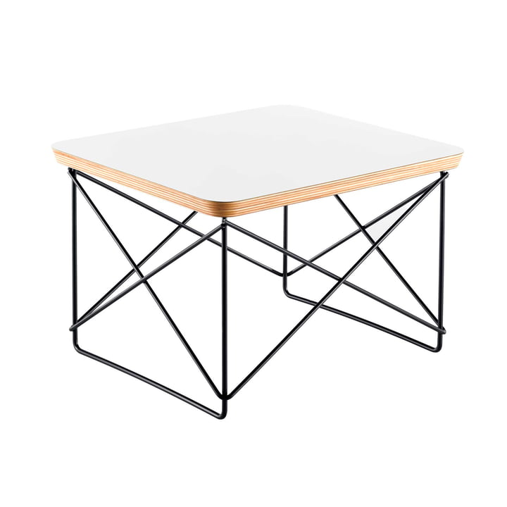 Eames Occasional Table LTR von Vitra in HPL Weiß / basic dark