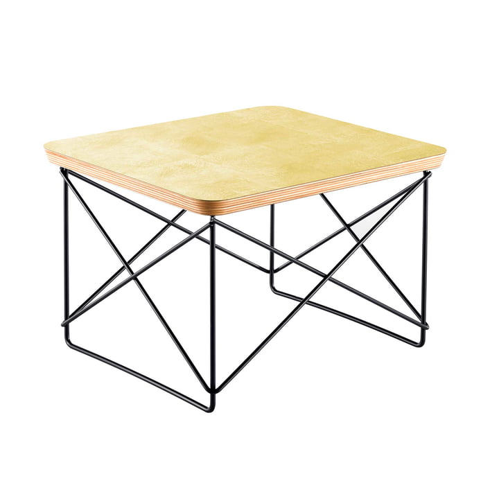 Eames Occasional Table LTR von Vitra in Blattgold / basic dark