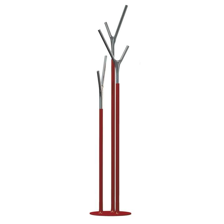 Wishbone Kleiderständer von Frost in Chrom poliert / rot