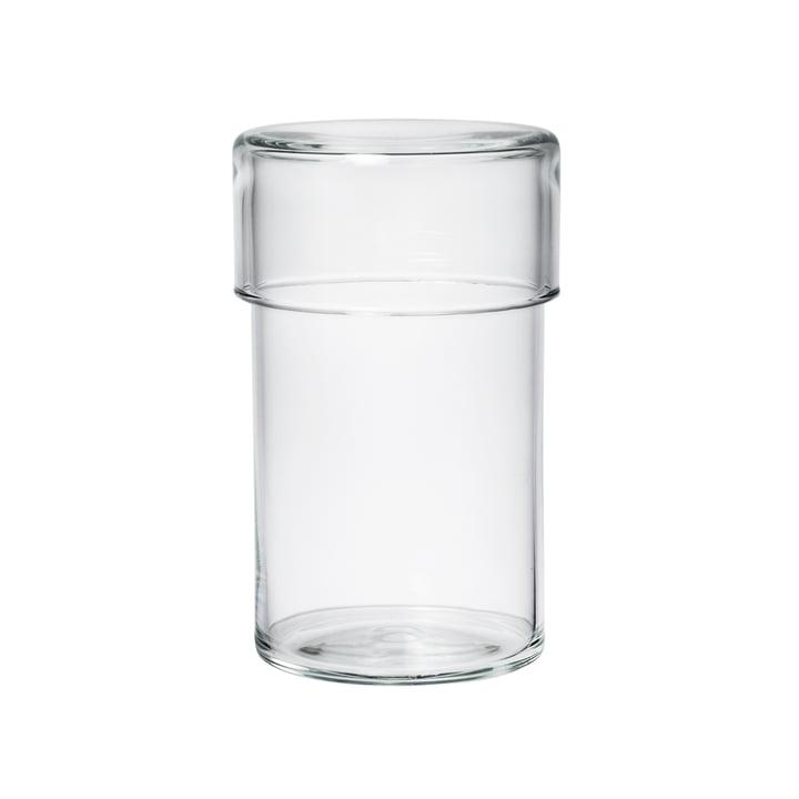 Das Raumgestalt - Glasgefäß mit Deckel in hoch
