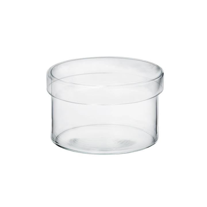 Das Raumgestalt - Glasgefäß mit Deckel in mittel
