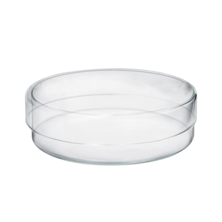Das Raumgestalt - Glasgefäß mit Deckel in flach