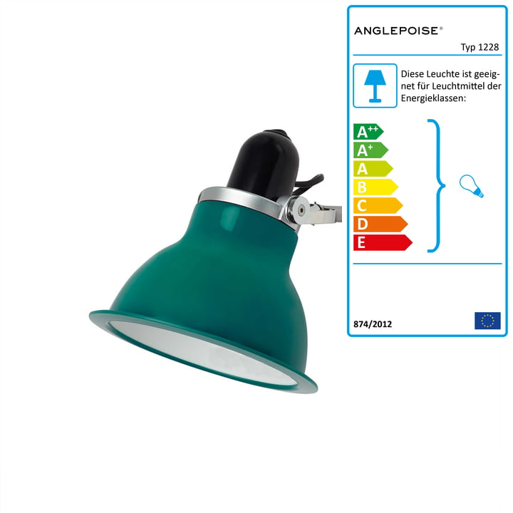 Anglepoise - Type 1228 Wandleuchte, Mid Green