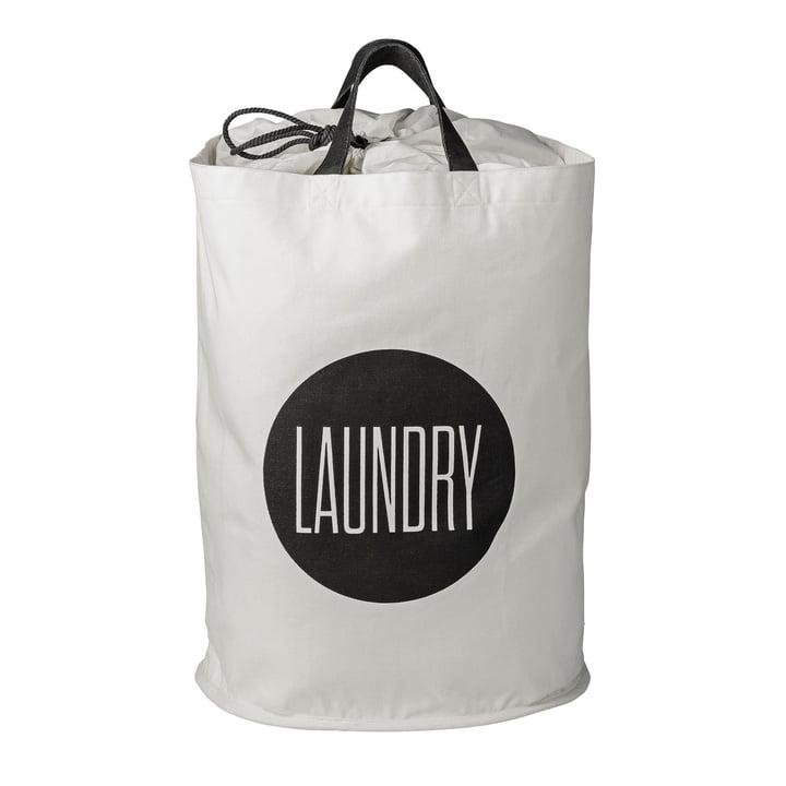 Der Bloomingville - Wäschekorb Laundry in schwarz / weiß