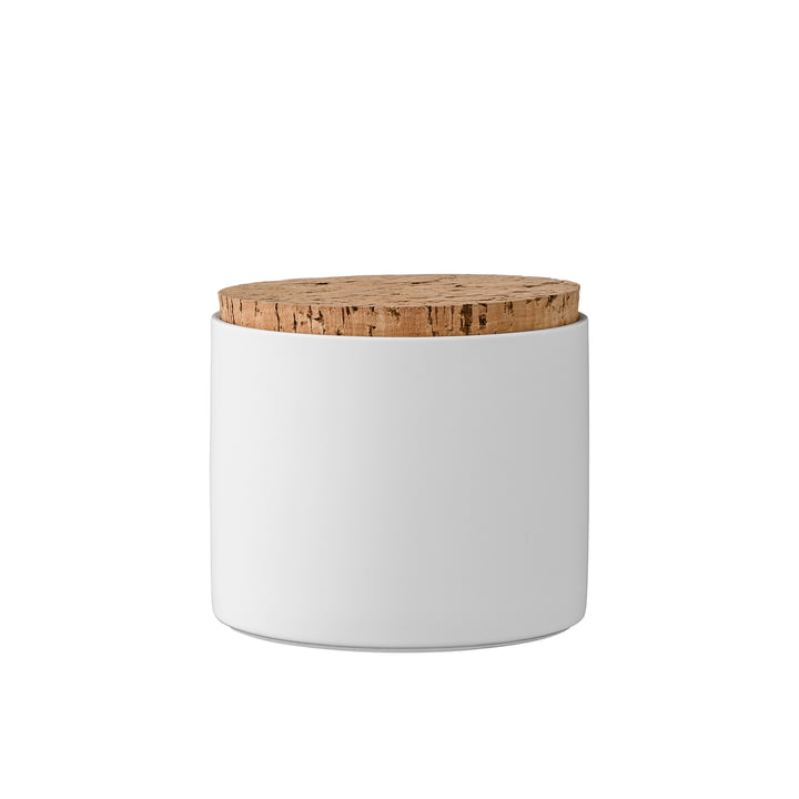 Vorratsdosen mit Deckel H11,8 cm von Bloomingville in Weiß